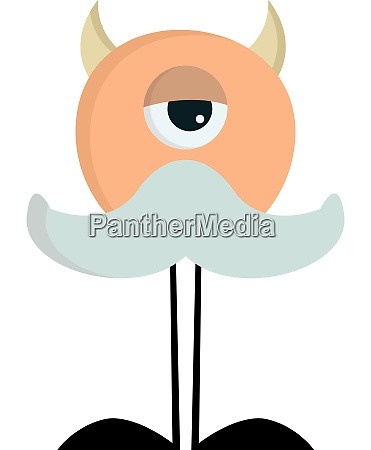 a monster with long legs vector