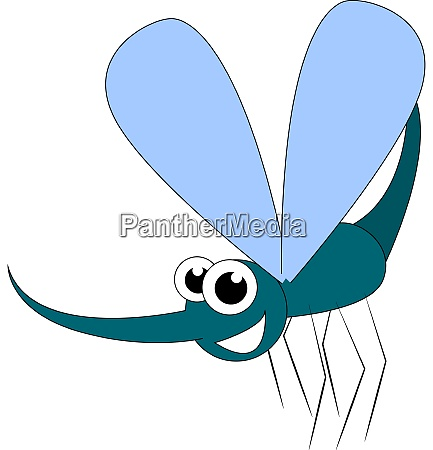 a mosquito with big eyes vector