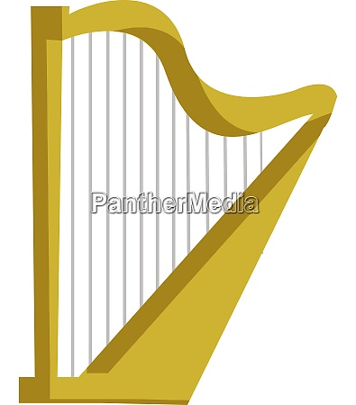 a golden harp vector or color