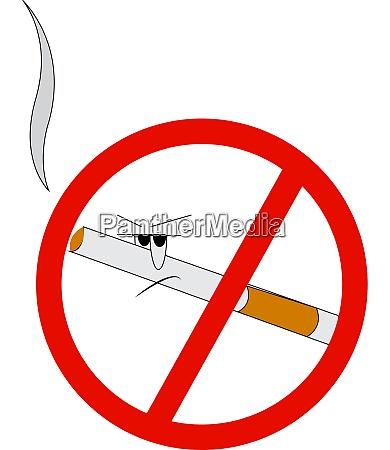 a no smoking sign vector or