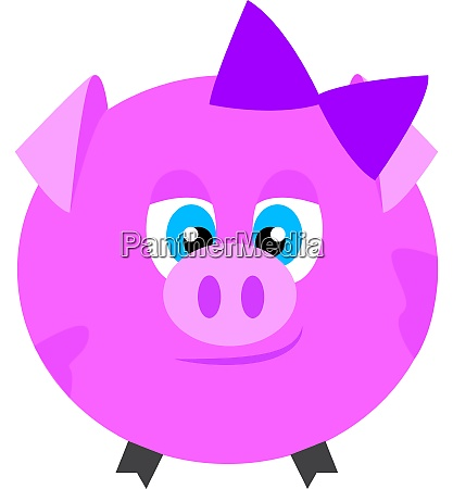 baby pink pig vector or color