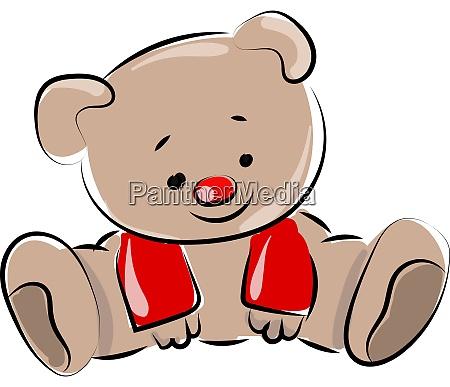 toy bear illustration vector on white