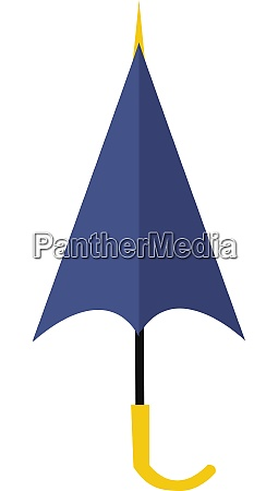 a purple umbrella vector or color
