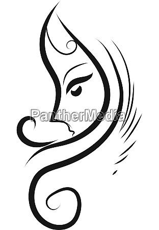 sketch of a girl tattoo illustration