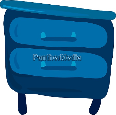 blue bedside table illustration vector on