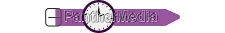 purple handwatch illustration vector on white