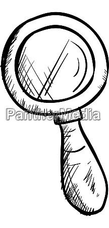 silber lupe zeichnung illustration vektor auf