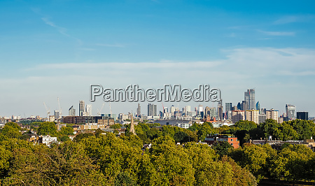 blick auf die skyline von london