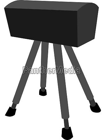 black pommel horse illustration vector on