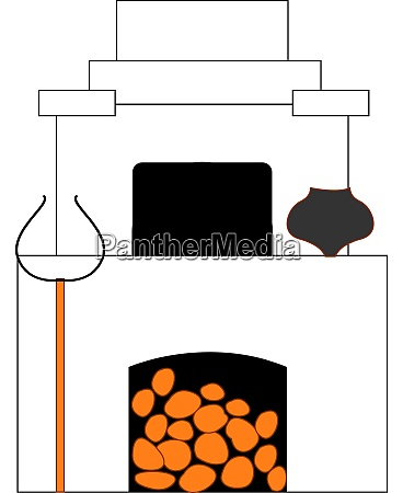 russian old stove illustration vector on
