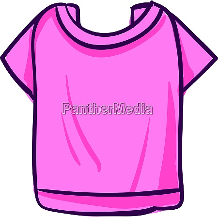pink woman shirt illustration vector on