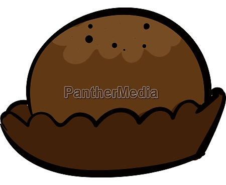 chocolate round cookie illustration vector on