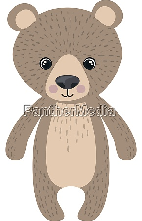 teddy bear illustration vector on white