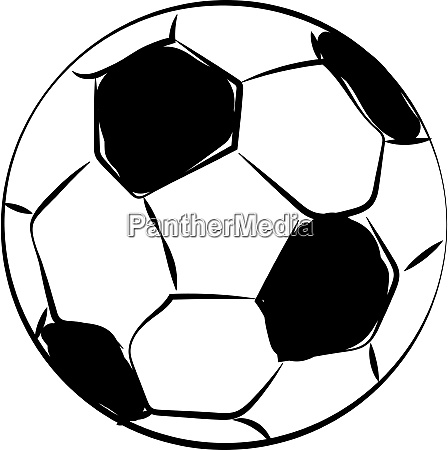 fussball illustration vektor auf weissem hintergrund
