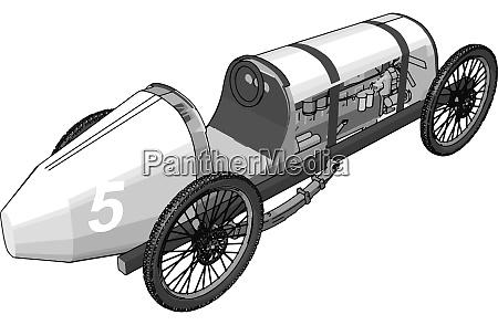 weisse antike auto illustration vektor auf