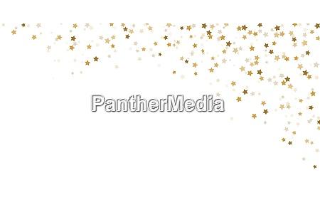 konfetti sterne hintergrund fuer die weihnachtszeit