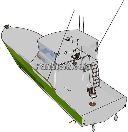 patrol boat illustration vector on white