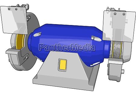 blue milling illustration vector on white
