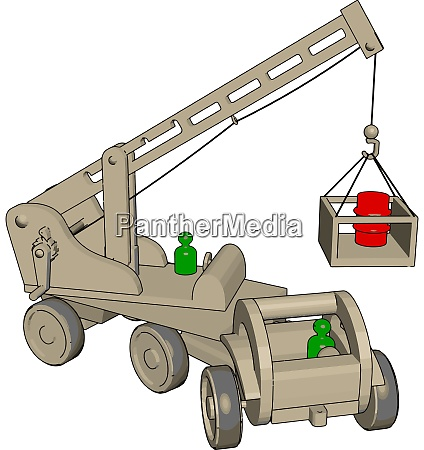 white construction vehicles toy illustration vector