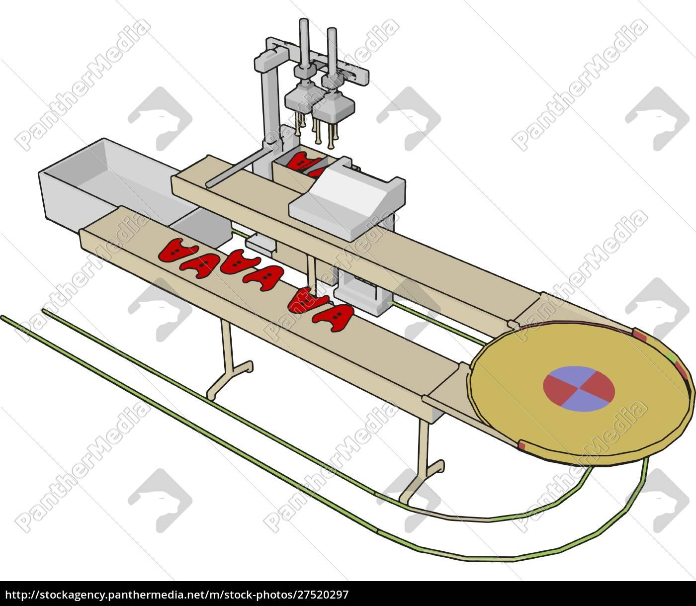 fabrikmaschine, illustration, vektor, auf, weißem, hintergrund., illustration, vektor, auf, weißem - 27520297