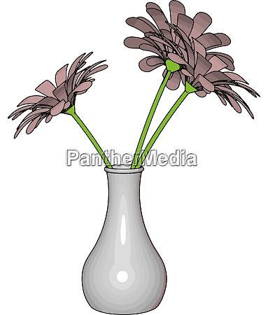 weiße, vase, mit, blumen, illustration, vektor, auf, weißem - 27520002