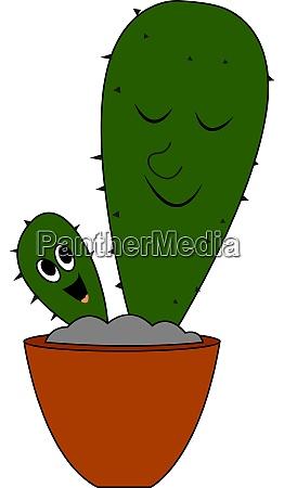 baby kaktus illustration vektor auf weissem