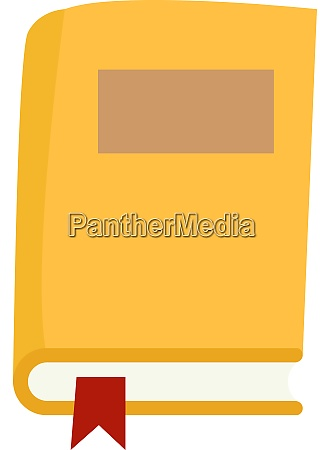 yellow book illustration vector on white