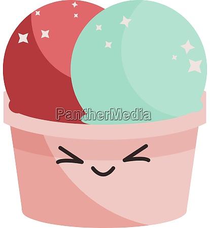 cute colorful ice cream illustration vector