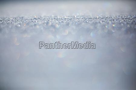 snow shallow dof image of