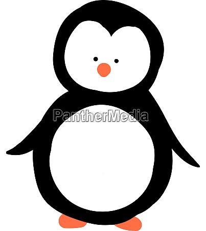 cute penguin illustration vector on white