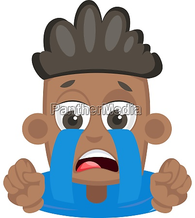 boy is crying illustration vector on