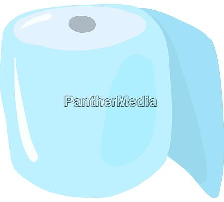 flat toilet paper illustration vector on