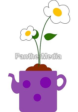 flower in a pot illustration vector