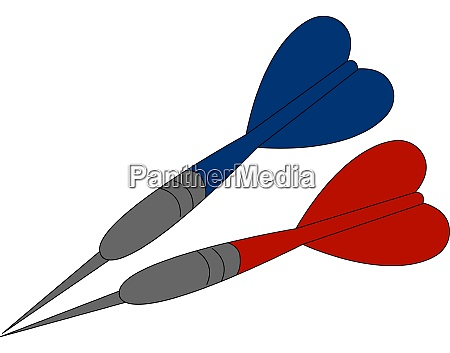 blue and red javelin illustration vector