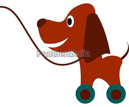 hund spielzeug illustration vektor auf weissem