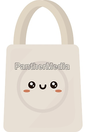 white bag illustration vector on white