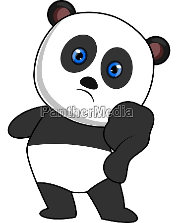 panda with blue eyes illustration vector