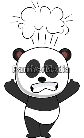 pissed off panda illustration vector on