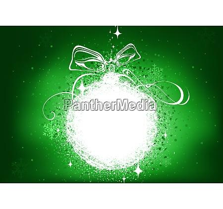gruener weihnachtshintergrund mit gluehender abstrakter baubein