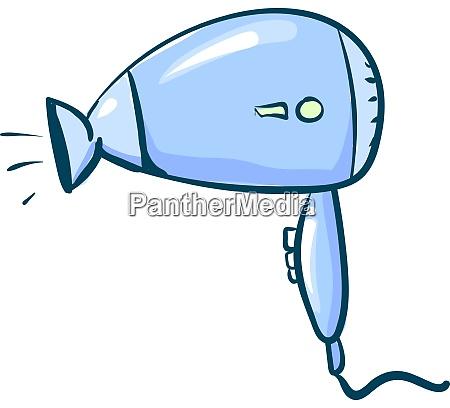 blue hair dryer illustration vector on
