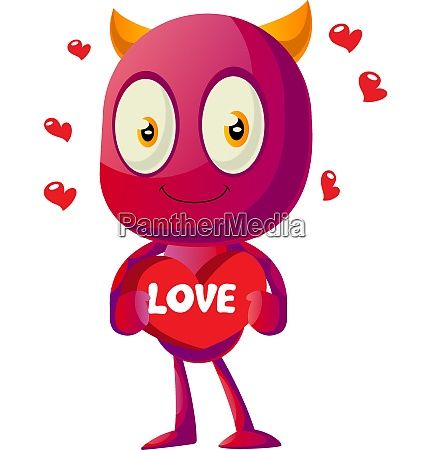 devil in love with big heart