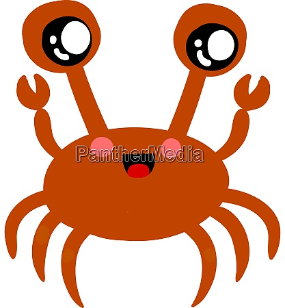 suesse rote krabbe illustration vektor auf