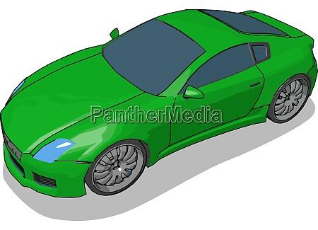 gruenes luxusauto illustration vektor auf weissem
