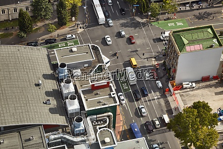 urban traffic from above
