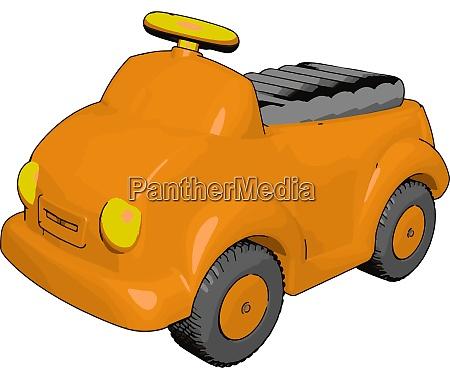 kleine orange auto illustration vektor auf