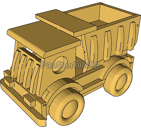 garbage truck toy illustration vector on