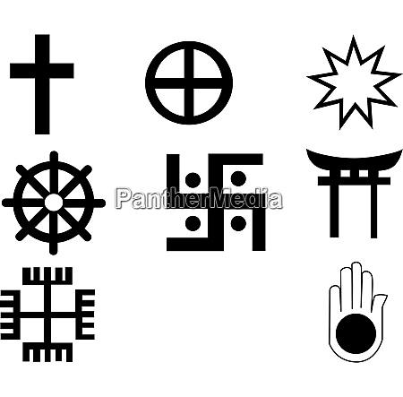 verschiedene symbole symbole sind vollstaendig