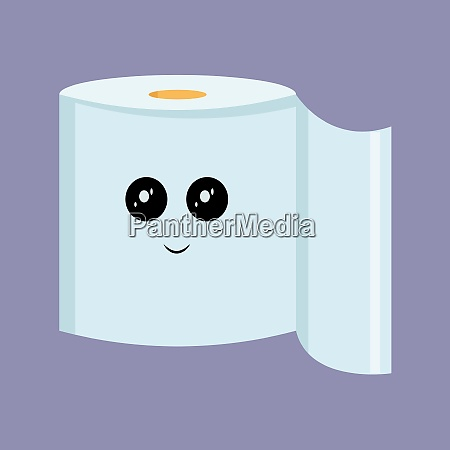 toilet paper illustration vector on white