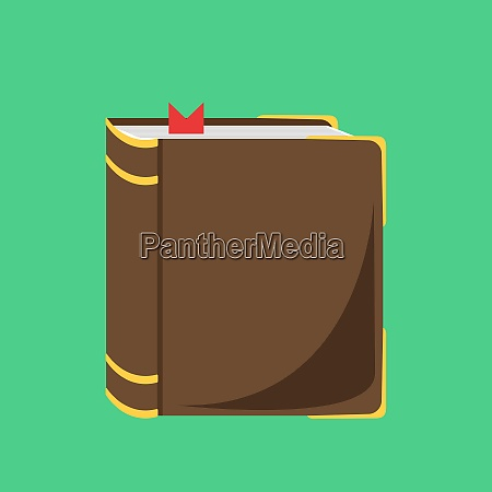 brown book illustration vector on white