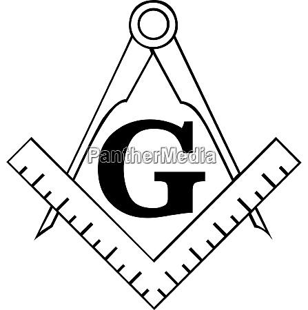 der freimaurerplatz und kompasssymbol freimaurer